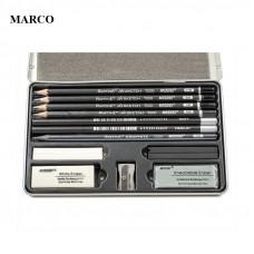 Набір для графіки, в металевому пеналі, MARCO Raffine 7900AS-TN