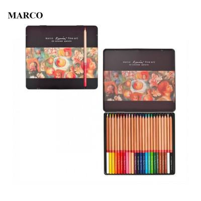 Набір професійних кольорових олівців , 24 шт.. В металевому пеналі , Marco Renoir. FineArt-24-tn