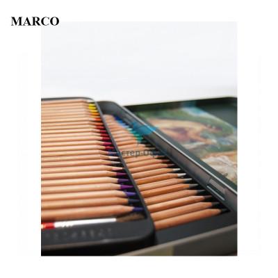 Набір професійних акварельних кольорових олівців , 48 шт.. В металевому пеналі , Marco Renoir. FineArt-48AQUA-tn