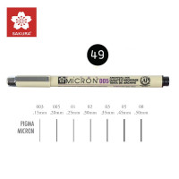 Чорний Лінер 0.2мм, PIGMA Micron (0.05), Sakura