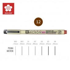 Коричневий Лінер 0.25мм, PIGMA Micron (0.1), Sakura