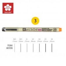 Жовтий Лінер 0.45мм, PIGMA Micron (0.5), Sakura