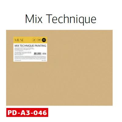 Набір паперу для акварелі, А3, 20л, 300 гм2, Школярик MUS