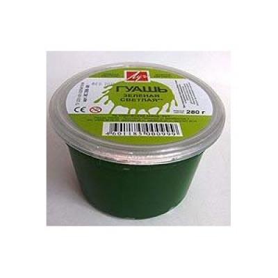 Зелена світла гуашева фарба, 225мл, ТМ Луч Ярославль
