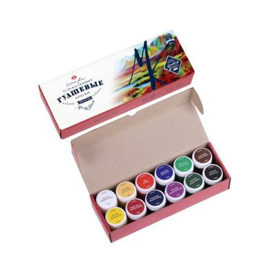 Набір гуашевих фарб, Майстер-клас, 12 кольорів по 40мл