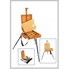 Етюдник дерев'яний (бук). Ніжки металеві. Вага 4,5кг. Висота полотна до 65см.
