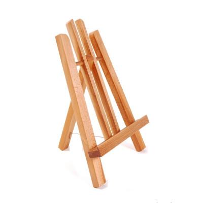 Мольберт декоративний настільний, дерев'яний (бук). Вага 0,3кг. Висота полотна до 25см.