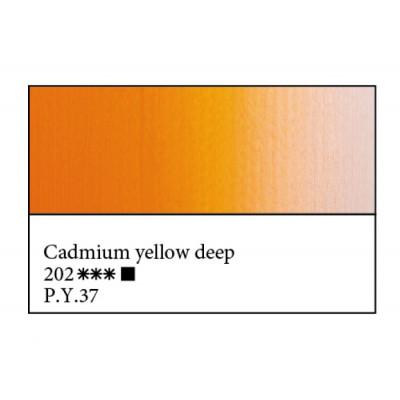 Кадмій жовтий темний олійна фарба, 46мл, ЗХФ Майстер Клас 202
