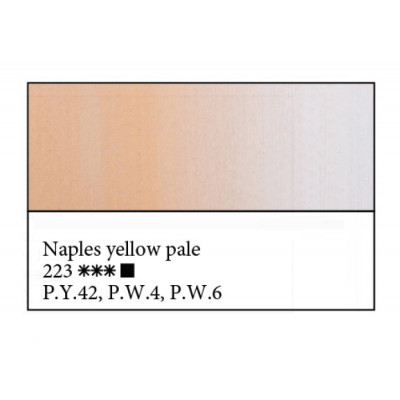 Неаполітанська жовто-палева олійна фарба, 46мл, ЗХФ Майстер Клас 223