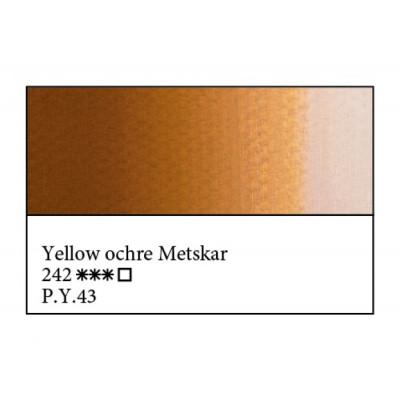 Охра жовта Мецкар олійна фарба, 46мл, ЗХФ Майстер Клас 242