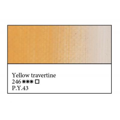 Жовтий травертин олійна фарба, 46мл, ЗХФ Майстер Клас 246