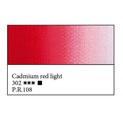 Кадмій червоний світлий олійна фарба, 46мл, ЗХФ Майстер Клас 302