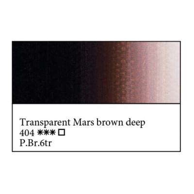 Марс коричневий темний прозорий олійна фарба, 46мл, ЗХФ Майстер Клас 404