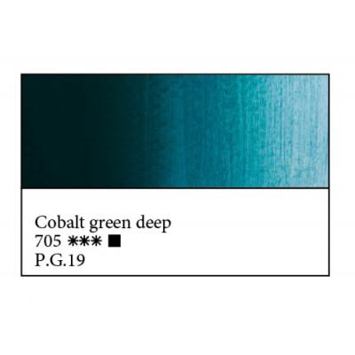 Кобальт зелений темний олійна фарба, 46мл, ЗХФ Майстер Клас 705