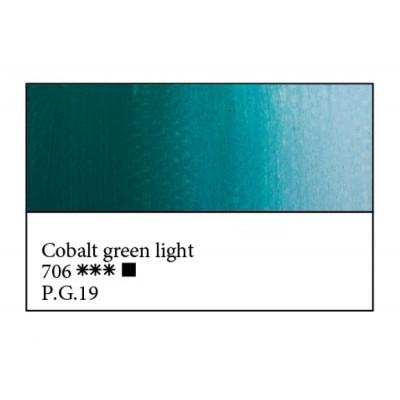 Кобальт зелений світлий олійна фарба, 46мл, ЗХФ Майстер Клас 706
