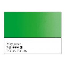 Травнева зелена олійна фарба, 46мл, Майстер Клас 745