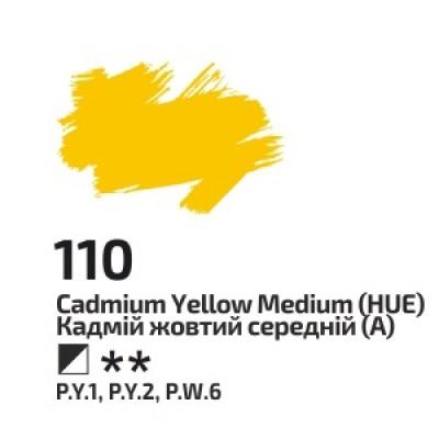 Кадмій жовтий середній, 45мл, ROSA Gallery, олійна фарба