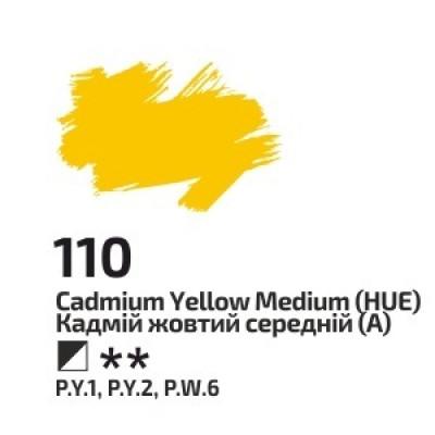 Кадмій жовтий середній, 100мл, ROSA Gallery, олійна фарба