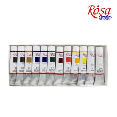 Набір олійних фарб, 12 кольорів по 20мл., ROSA Studio