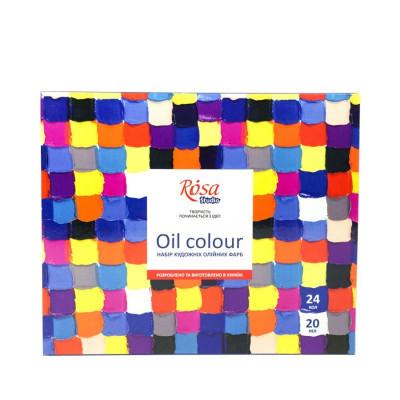Набір олійних фарб, 24 кольори по 20мл., ROSA Studio