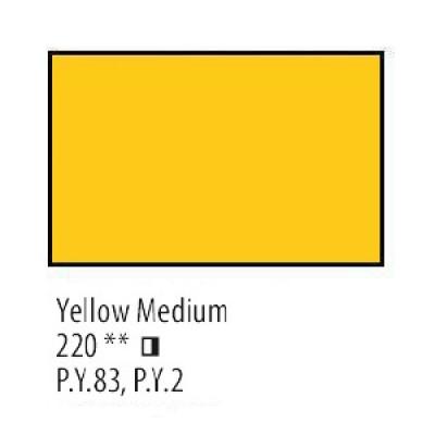 Жовта середня олійна фарба, 46мл, Сонет