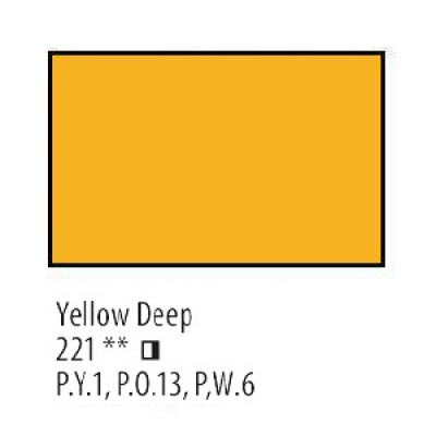 Жовта темна олійна фарба, 46мл, Сонет
