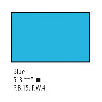 Блакитна олійна фарба, 120мл, Сонет