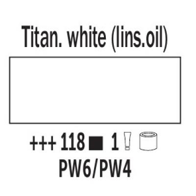 Білила титанові (на лляній олії) (118), 200 мл., Van Gogh, олійна фарба