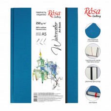 Блокнот для акварелі і ілюстрацій A5, 250г/м2, 32 листа, Unica (Fabriano), ROSA Gallery