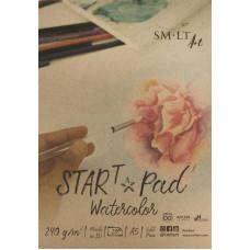 Cклейка для акварелі, А5, 20л, 240г/м2, STAR T SMILTAINIS