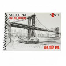 Альбом паперу для графіки, A5, 20л., 190г/м2, SANTI