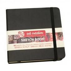 Блокнот для графіки, 12х12см, 80л., 140 г/м2, чорний, Talens Art Creation