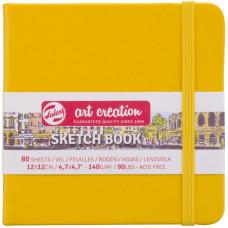 Блокнот для графіки, 12х12см, 80л., 140 г/м2, жовтий, Talens Art Creation