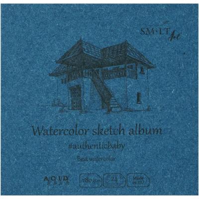 Альбом акварельний 280гм2, 9*9см. SMILTAINIS FB242809