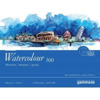 Склейка для акварелі, 18*24 см., 10 л, 300 г/м2, GAMMA Watercolour Torchon (папір Fabriano)