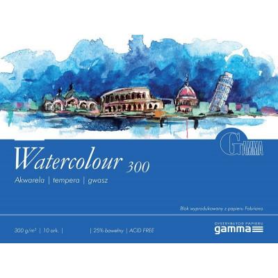 Склейка акварельна 300гм2, 18x24см GAMMA Fabriano W3001824K10