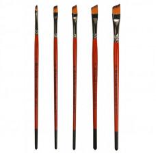 Синтетика кутова, № 1, KOLOS 1097А Carrot, коротка ручка, художній пензель
