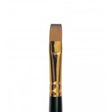 Колонок плоский (імітація), № 2, Roubloff 1S25, коротка ручка, художній пензель
