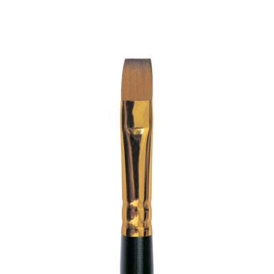 Колонок плоский (имитация), № 4, Roubloff 1S25, короткая ручка, художественная кисть