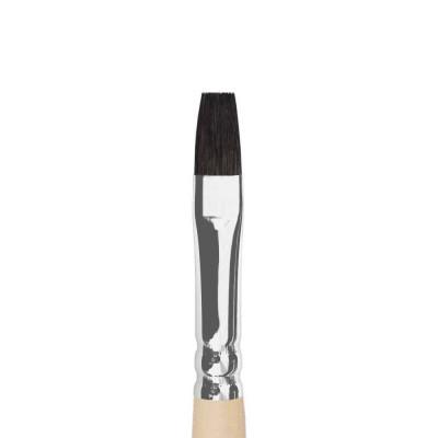 Белка плоская (имитация), № 12, Roubloff 1F20, короткая ручка, художественная кисть