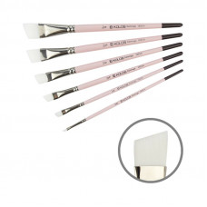 Синтетика кутова, № 1/8, KOLOS 1023A Flamingo, коротка ручка, художній пензель