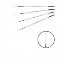 Синтетика лайнер, № 2/0, KOLOS 1023RL Flamingo, коротка ручка, художній пензель
