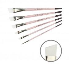 Синтетика кутова, № 1/2, KOLOS 1023A Flamingo, коротка ручка, художній пензель