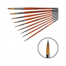 Синтетика кругла, № 000, KOLOS 1097R Carrot, коротка ручка, художній пензель