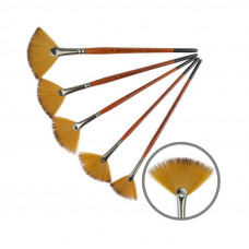 Синтетика віялова, № 2, KOLOS 1097FN Carrot, коротка ручка, художній пензель