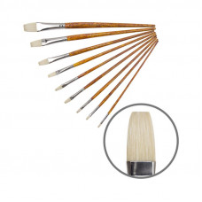Щетина плоска, № 1, KOLOS 2023F Grace, довга ручка, художній пензель