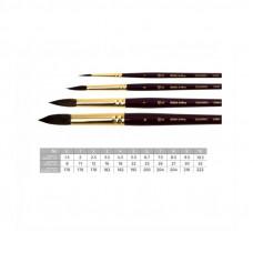 Білка кругла, № 0, ROSA Gallery 2080, коротка ручка, художній пензель
