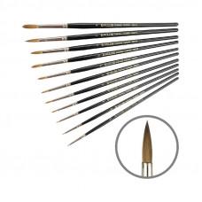 Колонок круглий, № 000, KOLOS 3007R Classic, коротка ручка, художній пензель