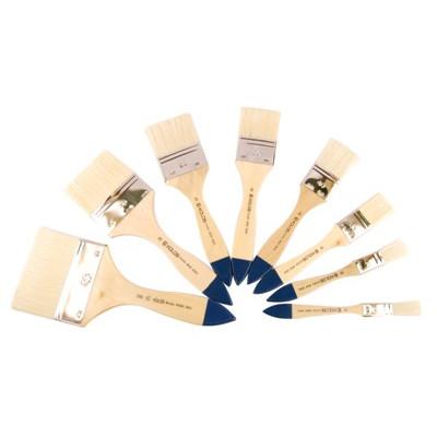 Щетина флейц, № 60, KOLOS 8043 Wide, коротка ручка, художній пензель