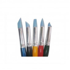 Набір пензлів для пастелі, 5 шт. різних форм і розмірів, KOLOS 9027-5 Rubber